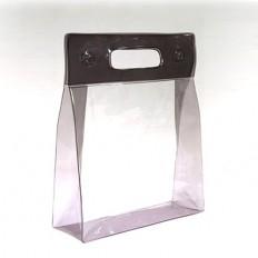 Косметичка-сумочка с прямоугольными ручками и кнопками