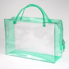 Сумочка чемоданчик на молнии с приварными ручками